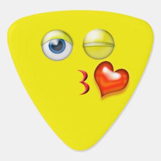 Púa De Guitarra Sople un beso Emoji