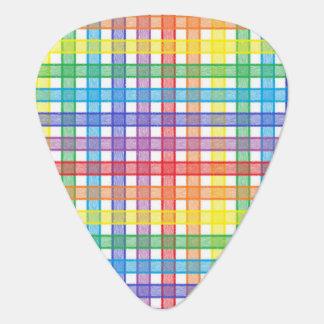 Púa De Guitarra Tela escocesa del arco iris