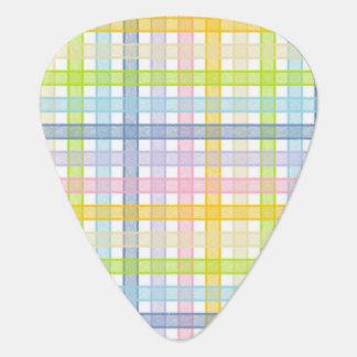 Púa De Guitarra Tela escocesa en colores pastel del arco iris