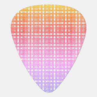 Púa De Guitarra Tela escocesa moderna rosada Ombre de la lavanda