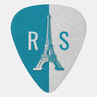 Púa De Guitarra Torre Eiffel adorable del purpurina de París el |