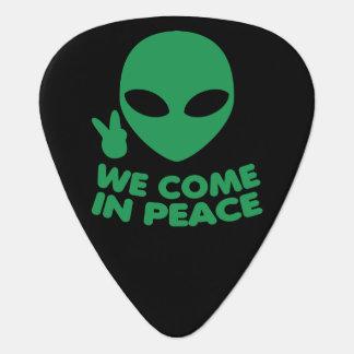 Púa De Guitarra Venimos en extranjero de la paz