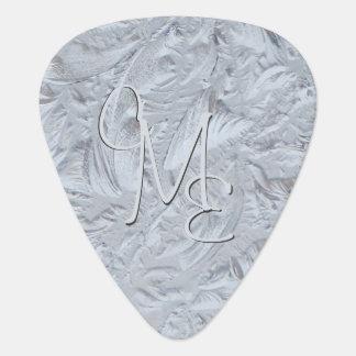 Púa De Guitarra Vidrio texturizado con monograma