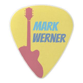 púas de guitarra amarillas frescas para el
