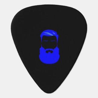 Púas de guitarra azules de la barba