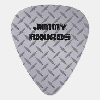 Púas de guitarra de acero personalizadas de la plectro