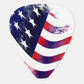 Púas de guitarra de la bandera americana
