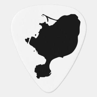 Púas de guitarra de la isla de Gotts