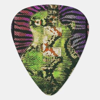 Púas de guitarra de la piel de serpiente púa de guitarra