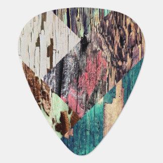 Púas de guitarra de madera del collage púa de guitarra
