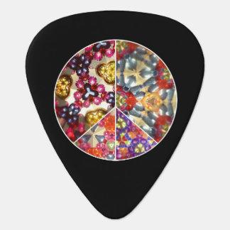 Púas de guitarra del signo de la paz del púa de guitarra