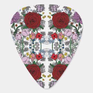 Púas de guitarra florales del caleidoscopio plectro