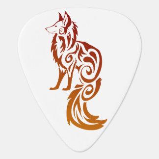 Púas de guitarra tribales rojas del Fox de Firey Púa De Guitarra