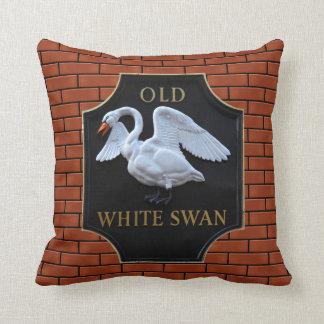 Pub viejo del cisne cojín decorativo