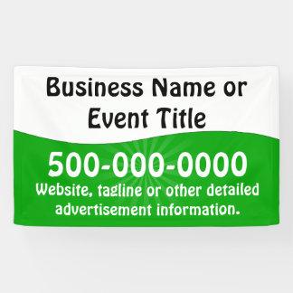 Publicidad de negocio blanca verde de encargo