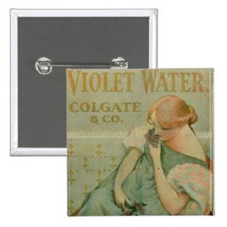 """Publicidad de poster """"agua violeta"""", por Colgate y Chapa Cuadrada 5 Cm"""