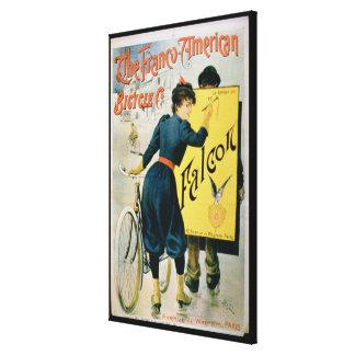 Publicidad de poster 'la bicicleta Franco-American Impresión En Lienzo