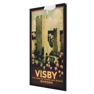 Publicidad de poster la ciudad de Visby Suecia c Impresion En Lona