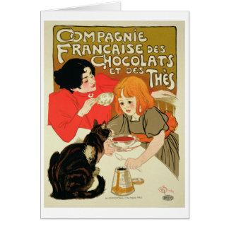 Publicidad de poster los French Company del Tarjeta