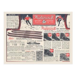 Publicidad del equipo de deportes de invierno del postal