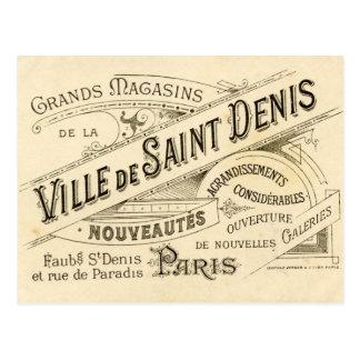 Publicidad del francés del vintage postal