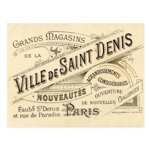 Publicidad del francés del vintage tarjetas postales