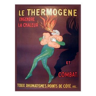 Publicidad del vintage de la reproducción, Thermog Postal