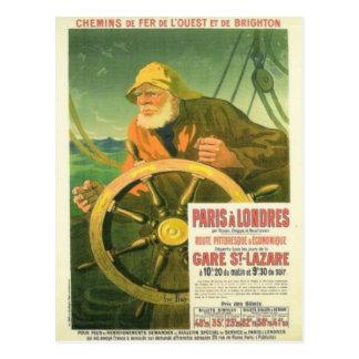 Publicidad del vintage, ferrocarriles franceses postal