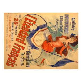Publicidad francesa del vintage postal