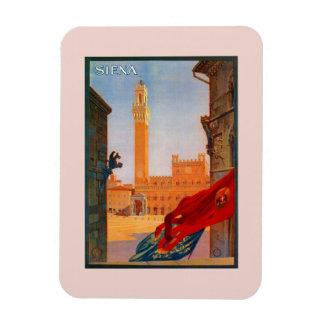 Publicidad italiana del viaje de Siena del vintage Imán De Vinilo