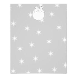 Pudín del navidad blanco con las estrellas tarjetones