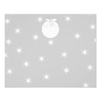 Pudín del navidad blanco con las estrellas tarjetas informativas