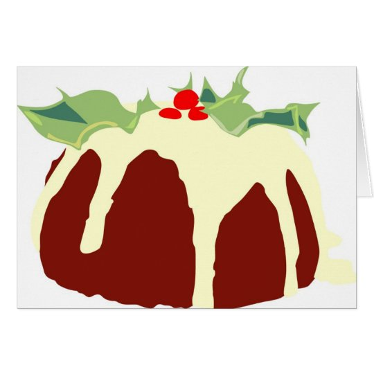 Pudín del navidad tarjeta de felicitación