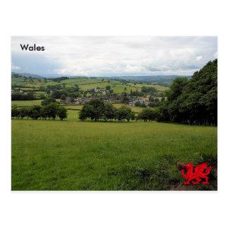 Pueblo de Llanigon, Powys, País de Gales Postal