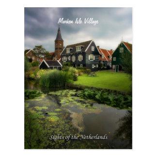 Pueblo de Marken, vistas de los Países Bajos Postal