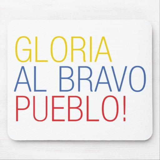 Pueblo del bravo del al de Franela Venezuela - de  Tapetes De Ratón