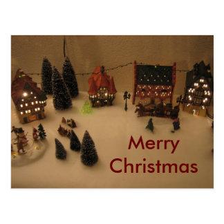 Pueblo del navidad postal