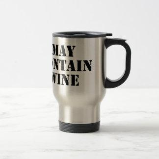 Puede contener el vino taza de viaje