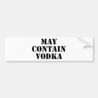 Puede contener la vodka pegatina para coche