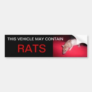 puede contener ratas pegatina para coche