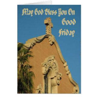 Puede dios bendecirle en Viernes Santo Tarjeta De Felicitación