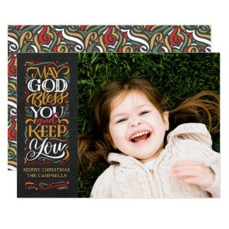Puede dios bendecirle tarjeta de Navidad religiosa