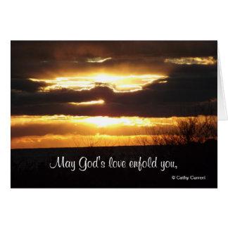 Puede el amor de dios enfold le, consigue la tarje tarjeta de felicitación