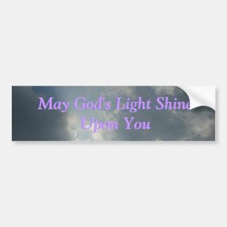 Puede el brillo ligero de dios sobre usted… Pegati Pegatina Para Coche