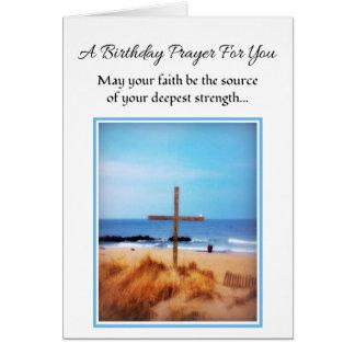 Puede su cumpleaños religioso de la fe… tarjeta de felicitación