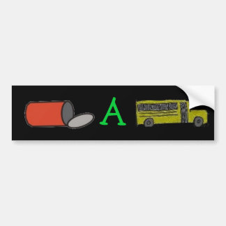 puede un pegatina del autobús pegatina para coche