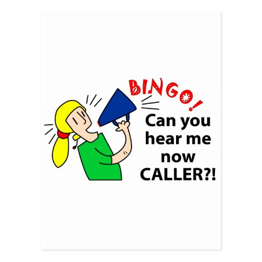 ¿Puede usted ahora oírme visitante del bingo? Postal