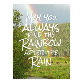 Puede usted encontrar siempre el arco iris después postal