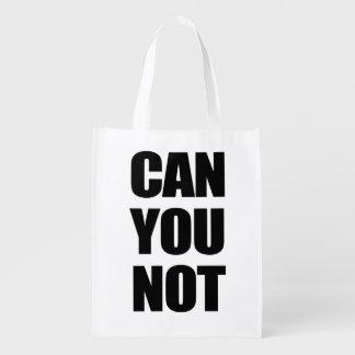 Puede usted no bolsas para la compra