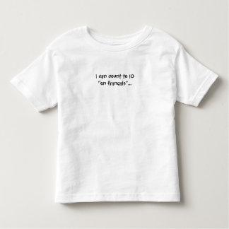 Puedo contar a 10 en francais franceses del en… camiseta de niño